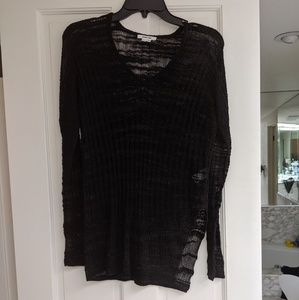 Helmut Lang see through blouse